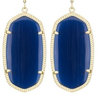 Danielle Earrings in Navy Cat's Eye - Kendra Scott Jewelry