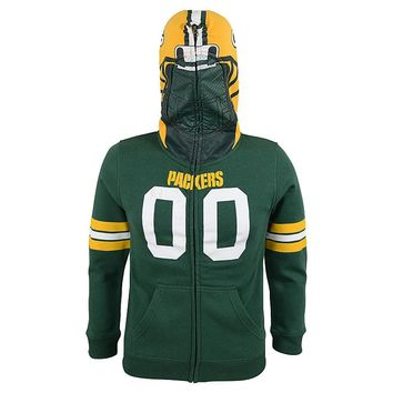 Green Bay Packers Full-Zip Fleece Costume Hoodie - Boys 8-20