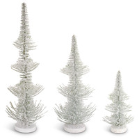 Sub Zero Collection Frosted Pine Trees (Set of 3)