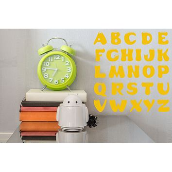 Vinyl Decal Wall Sticker Alphabet Lettering Decor for School and Pupils Unique Gift (n697)