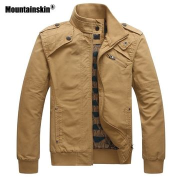 Trendy Mountainskin 2018 New Men's Jackets Autumn Casual Military Tactical Coats Slim Fit Male Bomber Jacket Mens Brand Clothing SA531 AT_94_13