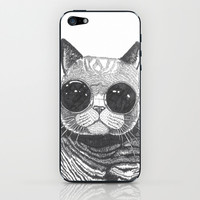 cool cat iPhone & iPod Skin by Polkip