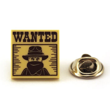 WANTED bandit, Tie Pin, Tie Tack Pin, Men's Tie Tacks, Tie Tac, Silver Tie Clip, Tie Clips Men, Wedding Clip, Tie Tack