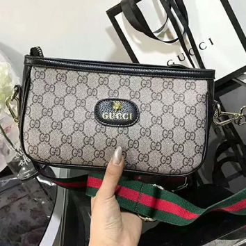 Gucci Women Leather Shoulder Bag Camera bag B-AGG-CZDL Black