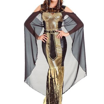 Egypt Queen Dress Halloween Exotic Egyptian Pharaoh Costumes For Women Adult Costume Cleopatra Princess Cosplay Masquerade Party