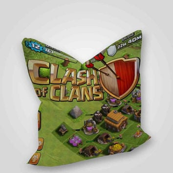 Clash Of Clans Game Build Logo, pillow case, pillow cover, cute and awesome pillow covers