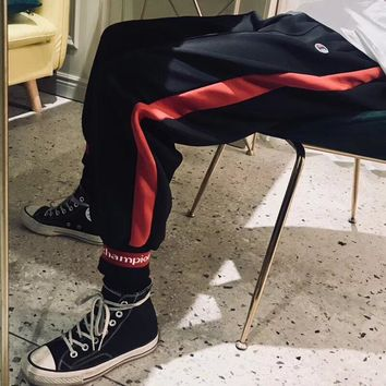"""Champion"" Unisex Personality Fashion Multicolor Letter Leisure Pants Trousers Sweatpants"