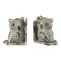 Owl Book Ends Grappa Gray
