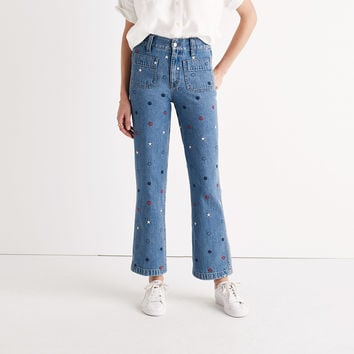 Rivet & Thread Embroidered Star Jeans