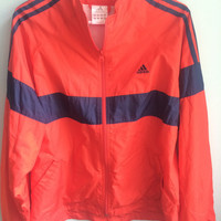 vintage 90s adidas zip up windbreaker
