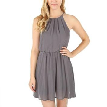 Lush Juniors Woven Blouson Dress at Dry Goods