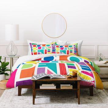Jacqueline Maldonado Outside The Lines Duvet Cover
