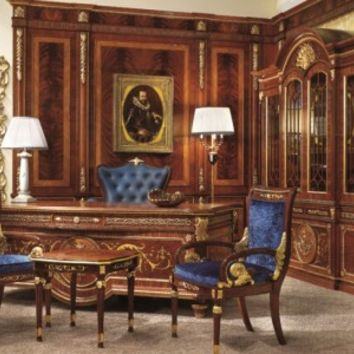 English Style Study Room - Top and Best Classic Furniture in Qatar and Classical interior Design Italian Companies
