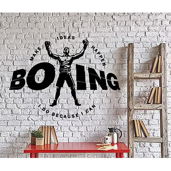 Wall Vinyl Decal Classic Boxing Gloves Martial Arts Home Interior Decor Unique Gift z4388