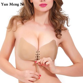 Bra Invisible Silicone Backless Strapless Push Up