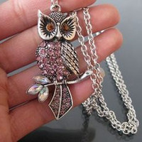 Beautiful owl necklace by fenasd99321 on Etsy