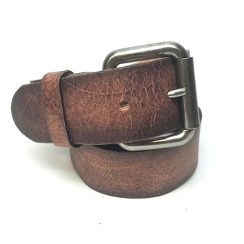 Bill Adler Distressed Cognac Belt
