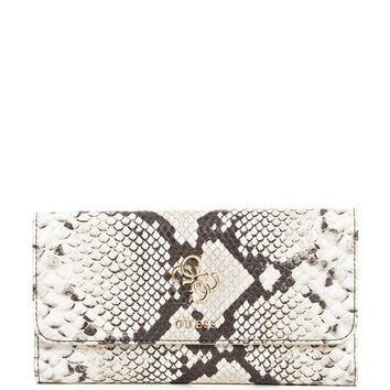 PEAPGQ6 GUESS Digital Faux-Snakeskin Clutch