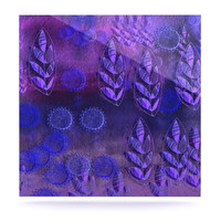 "Marianna Tankelevich ""Summer Night"" Purple Lavender Luxe Square Panel"