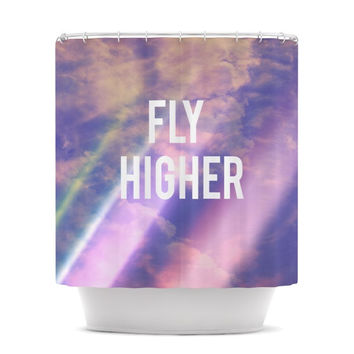 "Rachel Burbee ""Fly Higher"" Shower Curtain"
