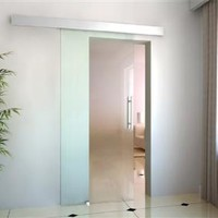 Tempered Glass Sliding Door Kit - Frosted