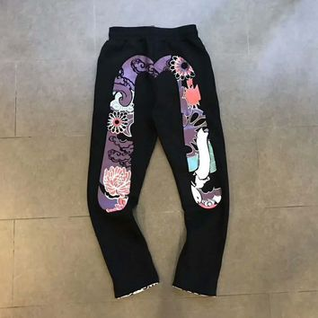 Evisu Men Fashion Print Sport Stretch Pants Trousers Sweatpants G-A-HRWM