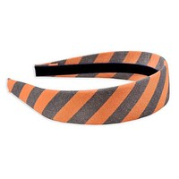 Orange & Navy Oxford Stripe Headband by High Cotton