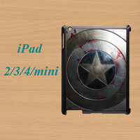 Captain America Shield ipad mini case,ipad mini 2 case,ipad air case,iPad 3 case,ipad air cases,ipad 4 case,ipad 2 case,in plastic,silicone.