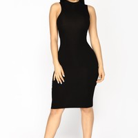 Trey Lace Up Dress - Black