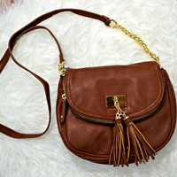 Tassel Crossbody - Tan