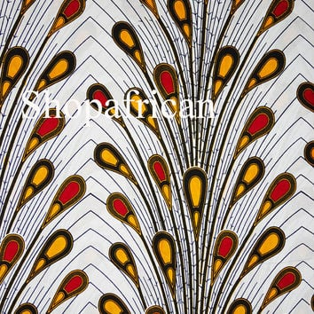 African print fabric sold by yard/ Ankara fabric/ Electric bulb ankara/ African Supplies for dress skirt/ White African fabric/ dutch wax