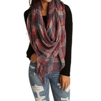 Red Go-Anywhere Plaid Scarf