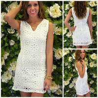 Confection White Eyelet Dress