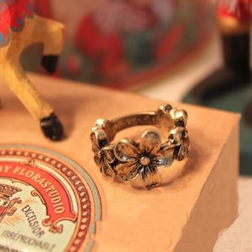 Shiny Gift Stylish Jewelry New Arrival Accessory Vintage Floral Ring [6586143559]