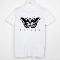 T Shirt Custom Harry Styles one Direction tattoo Screenprint