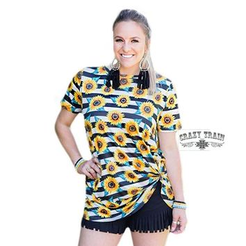 Knot In Kansas Anymore Knot Top By Crazy Train