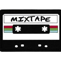 This Is A Patch! Mixtape done in PVC/Rubber/Silicon Patch & Sewing Channel 10cm