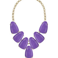 Harlow Magnesite Statement Necklace, Violet