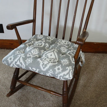Ikat Rocking Chair Cushions, Rocking Chair Pads, Glider Rocker Replacement Cushions, Wooden Rocking Chair Cover, Glider Replacement Pads