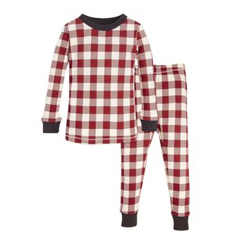 Buffalo Check Organic Toddler Holiday Matching Pajamas
