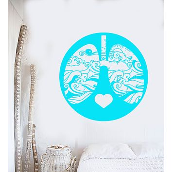 Vinyl Wall Decal Abstract Waves Lungs Marine Sea Style For Sailor Stickers (3223ig)