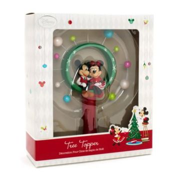 mickey and minnie mouse christmas tree topper disney store - Disney Christmas Tree Topper