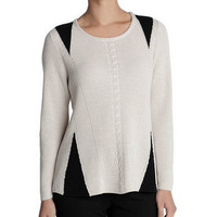 NIC & ZOE STITCHED KNIT TOP