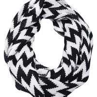 Chevron Knit Infinity Scarf | Wet Seal