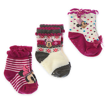Minnie Mouse Sock Set for Baby - 3-Pack | Disney Store
