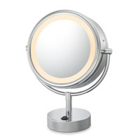 Kimball & Young LED Lighted 5X/1X Magnification Free Standing Vanity Mirror in Polished Nickel