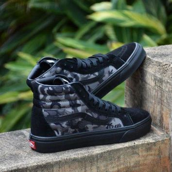 VON3TL Sale Vans Sk8 Camouflage Camo Mid Sneakers Canvas Shoes FS101