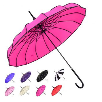 New arrival large long handle classical  tower pagoda wedding parasol sunny rainy creative umbrella men for  women female gift
