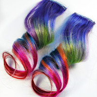 Entrancing / Human Hair Extension / Purple Green by MissVioletLace