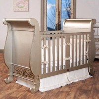 Bratt Decor Chelsea Crib in Antique Silver - CH01 - SIL - Cribs - Nursery Furniture - Baby & Kids' Furniture - Furniture